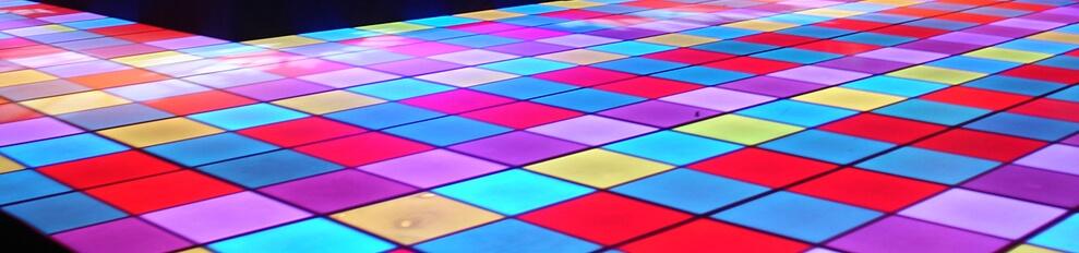 Verlichtedansvloeren  NMB Nieuwegein 16 x 10 meter