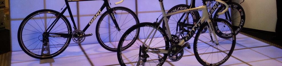 Verlichtedansvloeren beursstand voor Giant fietsen