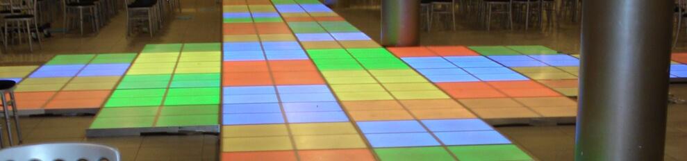 Verlichtedansvloeren  catwalk voorbeeld modeshow met LED
